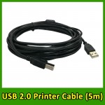 (5m) USB 2.0 High Speed Printer Cable A to B Male