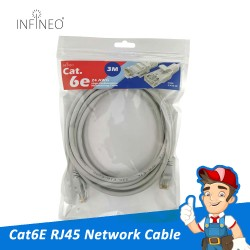 Network Cable Cat6e RJ45 Ethernet LAN (3 meter)