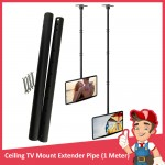 LCD TV Ceiling Wall Mount Extender Pipes, 1 meter