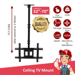 "LCD TV Wall Mount Ceiling 32""-70"""