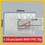 (10 pcs/pack) A5 size Consignment Note Pocket With PVC Zip